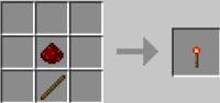 Рецепт факела из редстоуна